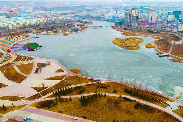 锡林郭勒盟多伦县冰上龙舟赛场